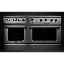 "60"" Gas Self Clean w/ Rotisserie, 8 Open Burners, 12"" Thermo-Griddle"