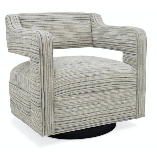 Living Room Moxie Swivel Chair - Wooden Base