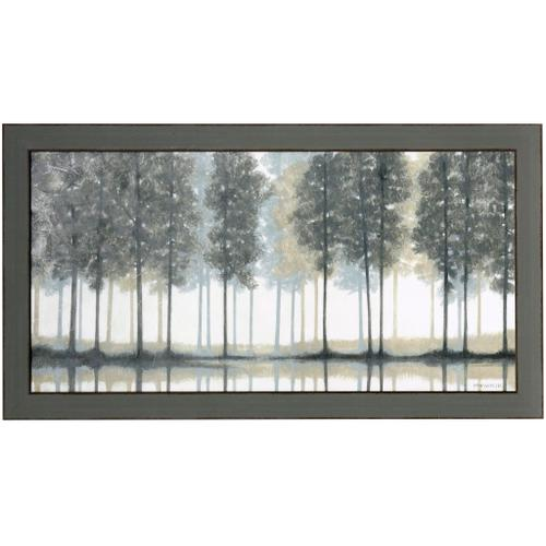 Style Craft - GLASS LAKE  53in w X 29in ht  Textured Framed Print  Made in USA