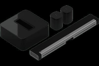 Black- 5.1 Surround Set