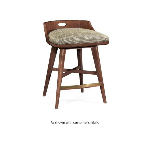 """28"""" Height bar chair upholstered in COM"""