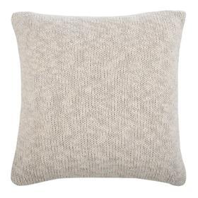 Ralen Knit Pillow - Natural/silver Lurex