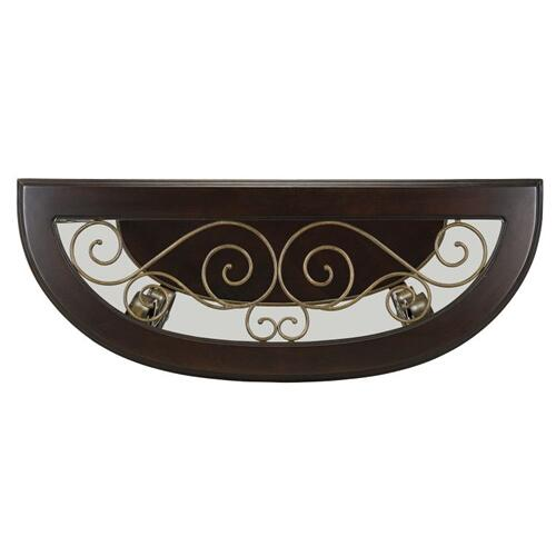 Gallery - Bombay Sofa Table with Glass Top, Brown