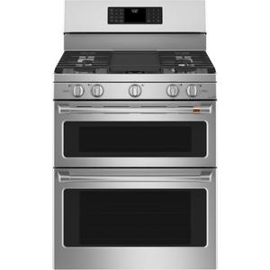 "Cafe30"" Smart Free-Standing Gas Double-Oven Range with Convection"