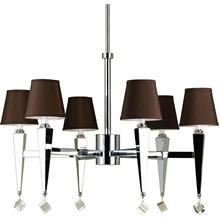 AF Lighting 6779 6-Light Chandelier- Chocolate Shades, 6779-6H