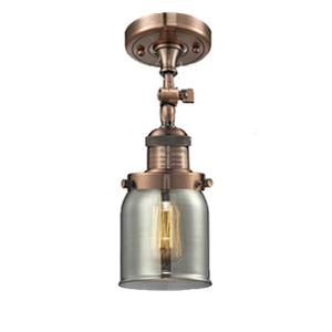 201F-AC-G41 - LARGE GLASS CONE SEMI-FLUSH