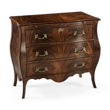 Mahogany bombé chest of drawers