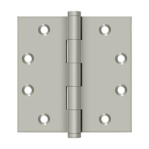 """Deltana - 4-1/2"""" x 4-1/2"""" Square Hinges - Brushed Nickel"""