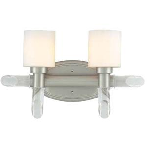 2-lite Vanity Wall Lamp, Ss W/frost Glass Shade, A 100wx2