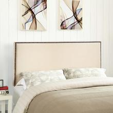 View Product - Region Nailhead Queen Upholstered Headboard in Ivory