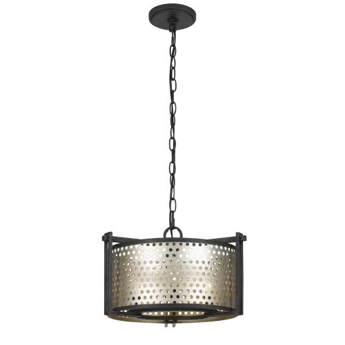 60W X 3 Howell 3 Light Metal 2 in 1 Semi-Flush / Pendant Chandelier