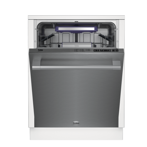 Beko - Tall Tub Stainless Dishwasher, 14 place settings, 40 dBA, Top Control