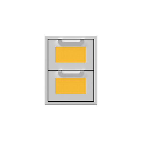 "Hestan - 16"" Hestan Outdoor Double Storage Drawers - AGDR Series - Sol"