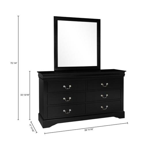 Lewiston Dresser, Black