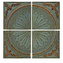 Blue Quarter Medallion Wall Panels - Set of 4