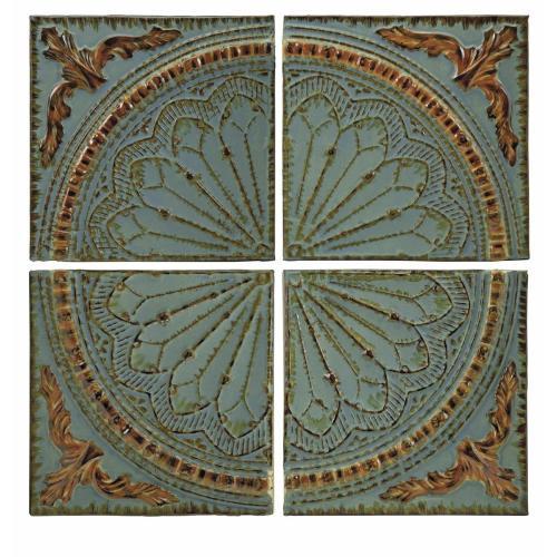 Imax Corporation - Blue Quarter Medallion Wall Panels - Set of 4