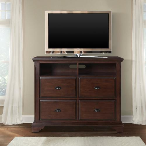 Canton Cherry Media Chest Cherry