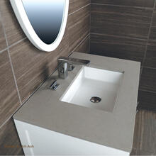 Countertop for vanity STL-F-36A & B and STL-W-36A & B, with a cut-out for Bathroom Sink 5452UN.