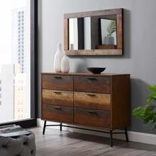 See Details - Arwen Rustic Wood Dresser in Walnut