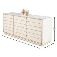 Louvered Sideboard, White