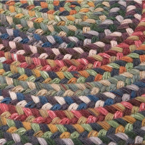 Braided Wool Runners Rug BA90 Medley 2' X 15'