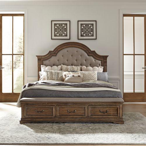 King Opt Storage Bed, Dresser & Mirror