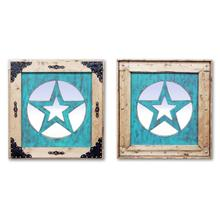 See Details - Medium Turquoise Star Mirror