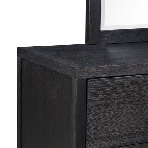 Thomas Black Dresser with Mirror, Black