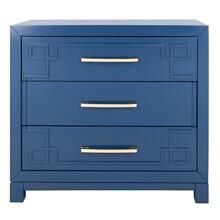 See Details - Raina 3 Drawer Chest - Lapis Blue / Gold