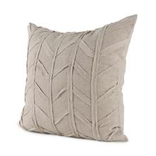 Ivivva 20L x 20W Beige Fabric Textured Decorative Pillow Cover