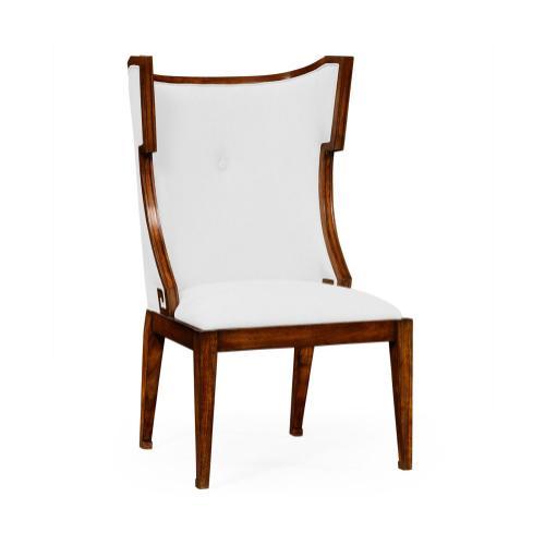 Greek Key Design Biedermeier Walnut Side Chair - COM