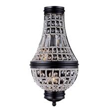 Stella 2 light Dark Bronze Wall Sconce Clear Royal Cut Crystal