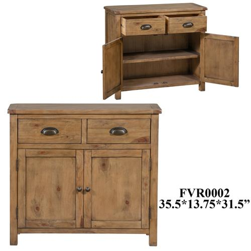 13.8X35.4X31.5 Cabinet With 2 doors 2 drawers, 1pk, 12.08'