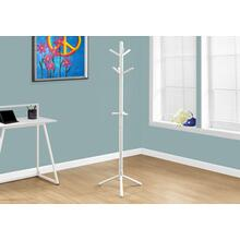 """See Details - COAT RACK - 69""""H / WHITE WOOD CONTEMPORARY STYLE"""