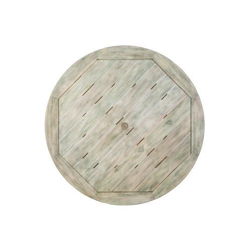 "Malvern 60"" Round Wood Dining Table w/umbrela hole"
