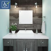 View Product - Aurelia Square Above-counter Vitreous China Bathroom Sink
