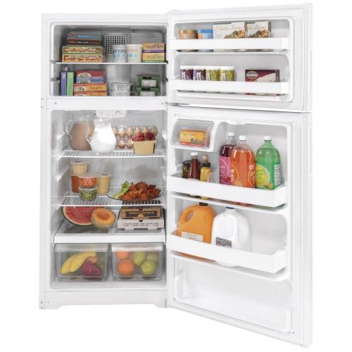 Hotpoint® ENERGY STAR® 15.6 Cu. Ft. Recessed Handle Top-Freezer Refrigerator
