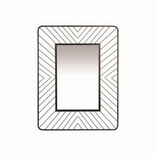 See Details - Geo Wire Rectangle Mirror