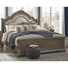 King Size Upholstered Sleigh Bed