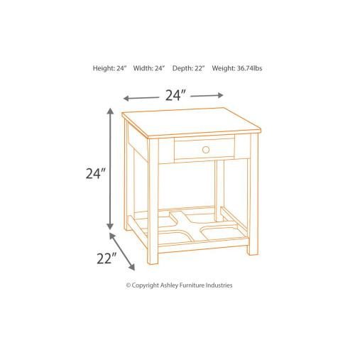 Marion Rectangular End Table