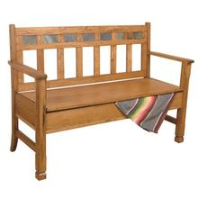 Sedona Bench W/ Storage/wooden Seat