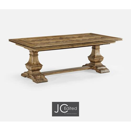 "86"" Country Style Medium Driftwood Extending Dining Table"