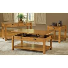 See Details - Oak Sofa Table With Drawer