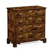 See Details - Oyster veneer small chest of drawers