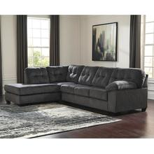 See Details - Signature Design by Ashley Accrington 2-Piece Right Side Facing Sofa Sectional in Granite Microfiber [FSD-1339SEC-2RAFS-GRT-GG]