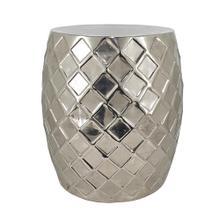 See Details - Gastonia Silver Aluminum Stool