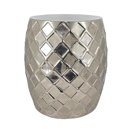 A & B Home - Gastonia Silver Aluminum Stool