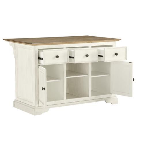 Farmhouse 3 Drawer Kitchen Island (Component 2 of 2)