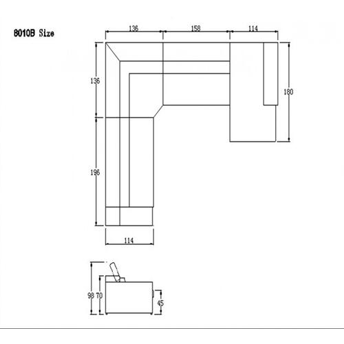 Divani Casa 8010B - Modern Bonded Leather Sectional Sofa