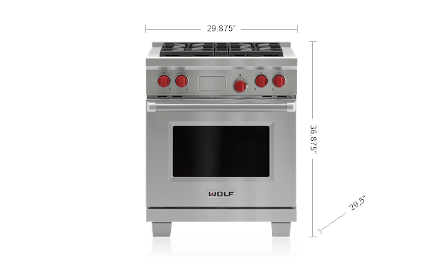 "Wolf30"" Dual Fuel Range - 4 Burners"